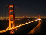 Golden Gate Bridge San Francisco City Lights